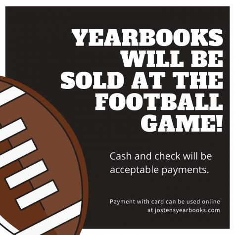 Purchase your YEARBOOK - Friday Night at the game!