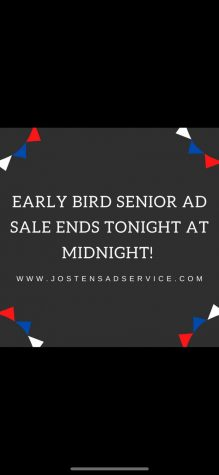 Early Bird Senior Ad Special ends at MIDNIGHT October 2, 2020!